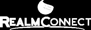 RealmConnect logo, white